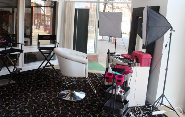 Lou Stevens set up in the corner suite of The Renaissance building at 101 W. Broad St. (Mike Platania)
