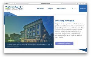 Co+Lab built a website for Virginia Community Capital.