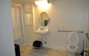 Units now feature an ADA-compliant toilet, new faucets, windows, blinds, carpet, paint and baseboards. (Courtesy Project Homes)
