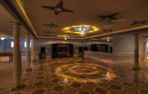 The 13,000-square-foot home's basement includes a disco/dance hall. (CVRMLS)