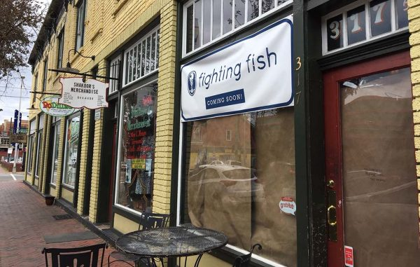 Fighting Fish will open at 317 N. Second St., in a storefront previously occupied by The Cultured Swine. (J. Elias O'Neal)