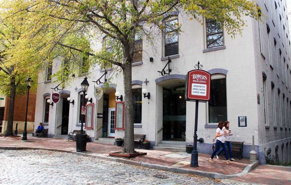 The office is on the ground floor of the Bowers Building in Shockoe Slip, beside The Martin Agency. (Jonathan Spiers)