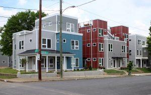 Urban Development built similar townhome duplexes nearby on Perry Street. (J. Elias O'Neal)