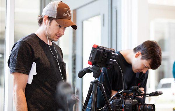 Tim O'Toole on set for a video production. (Poolhouse)