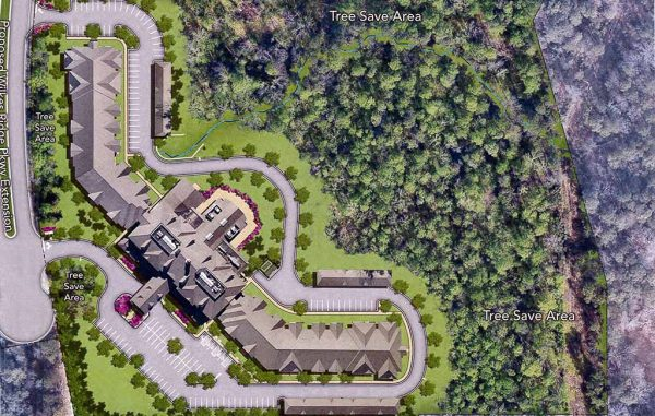 The 130-unit Tuckahoe Pines Retirement Community is planned for 15 acres at the Notch at West Creek. (Courtesy Resort Lifestyle Communities)