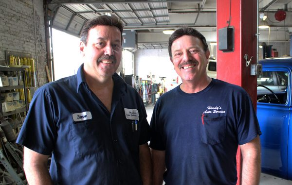 Steve, left, and Glenn Payne have run Woody's Auto Service for nearly 30 years. (Jonathan Spiers)