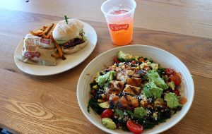The fast-casual chain serves grain bowls, salads, sandwiches, burgers and smoothies. (J. Elias O'Neal)