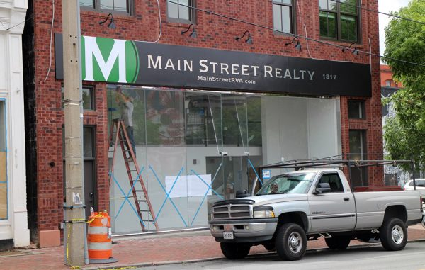 Signage for Main Street Realty has been placed above its new office at 1817 E. Main St. (Jonathan Spiers)
