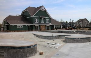 The clubhouse in RounTrey's Graythorne neighborhood totals 4,000 square feet and includes a pool, playground and exercise room. (Jonathan Spiers)