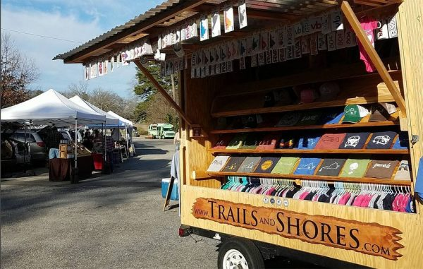 The company operates out of a pop-up trailer at area events and markets. (Trails & Shores)