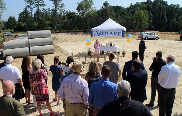 Officials speak at the Villas at Ashlake groundbreaking ceremony. (Jonathan Spiers)