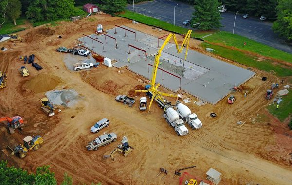 Foundation has been laid for the clinic's new building, set to open in early 2018. (GFCFS)