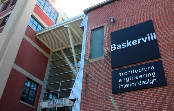 Baskervill's headquarters at the Canal Crossing development in Shockoe Slip. (Jonathan Spiers)