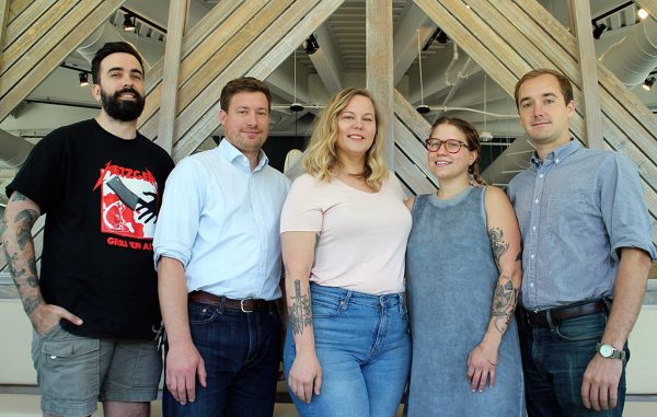 From left: James Kohler, Brad Hemp, Brittanny Anderson, Olivia Wilson and Nathan Conway. (J. Elias O'Neal)