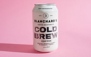 Blanchards Coffee launched its cold brew coffee cans. (Blanchards)