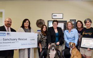 Sanctuary Rescue received $2,000 from a Safeco Insurance charity program. (Sanctuary Rescue)