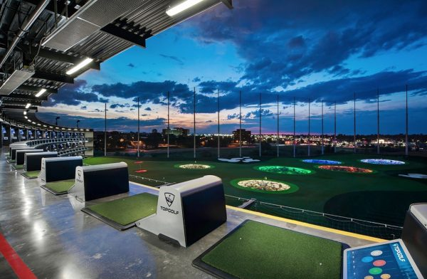 An example of a Topgolf tee line and outfield, this one in Centennial, Colorado.  (PRNewsFoto/Topgolf)