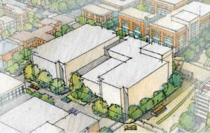 Conceptual rendering of the site in VCU's master plan. (VCU)