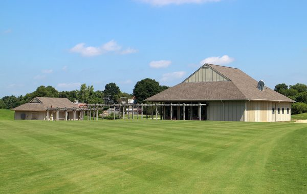 The clubhouse (right) will be renovated, and the smaller structure on the left is due for demolition. (Michael Schwartz)