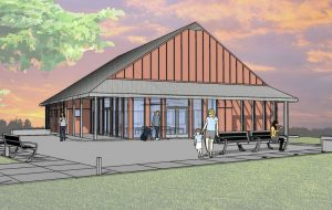 Rendering of the planned clubhouse renovations.