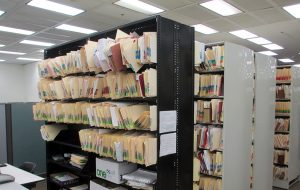 Tens of thousands of paper tax parcel records that need to be scanned. (Jonathan Spiers)