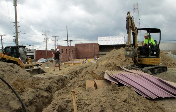 The planned ZZQ restaurant site on Aug. 7. (Jonathan Spiers)