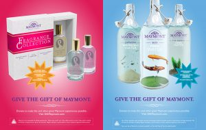 """Ndp released posters for its """"Give the gift of Maymont"""" campaign."""