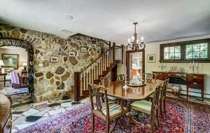 stone house dining room