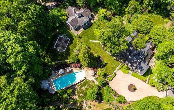 stone house aerial