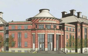 east hall addition rendering