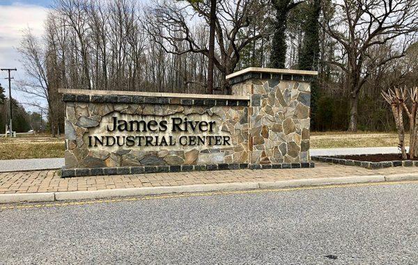 James River Industrial Center sign