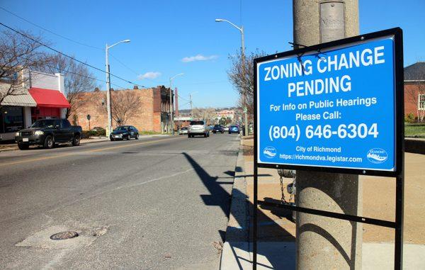 zoning change sign