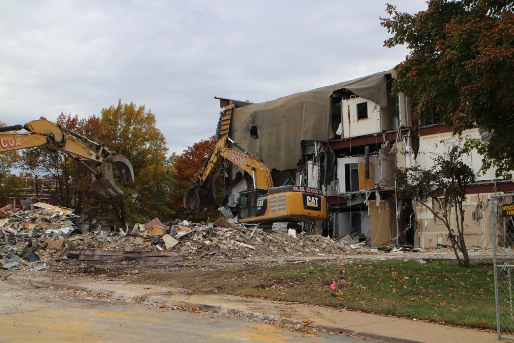 505 W. Leigh St. is being torn down. Photos by Katie