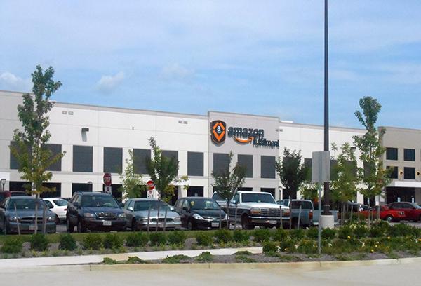The Amazon fulfillment center at Meadowville Technology Park. (BizSense file photo)