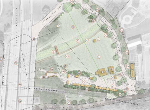 The amphitheater site proposal. (Courtesy of Venture Richmond)