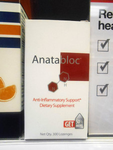 Anatabloc for sale at a GNC at Broad and Lombardy streets. (Photos by Burl Rolett)