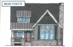 The first home to be built will be 3,380 square feet and sell for about $850,000. Renderings courtesy of Carillon Place.