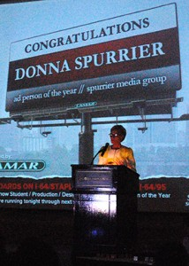 Donna Spurrier accepts her award. (Photos by Lena Price)