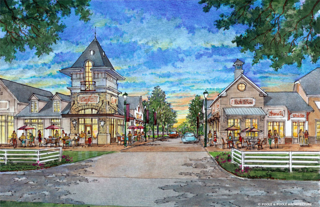 A developer is moving forward with a village-style development on the edge of Mechanicsville. Images courtesy of Edge Development Partners.