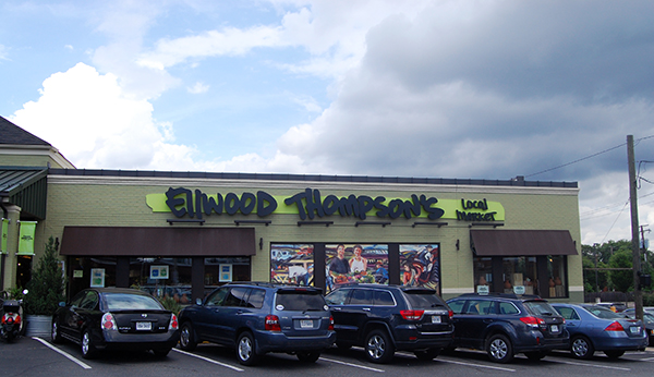 The Ellwood Thompson's store at 4 N. Thompson St. (Photo by Lena Price)