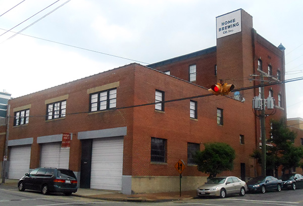 The Home Brewery building at 1201 W. Clay St. (Photos by Burl Rolett)