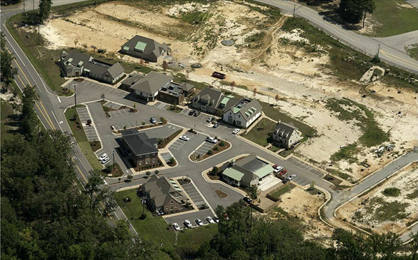An aerial view of the Maidstone development. (Photo courtesy of Joyner Commercial)