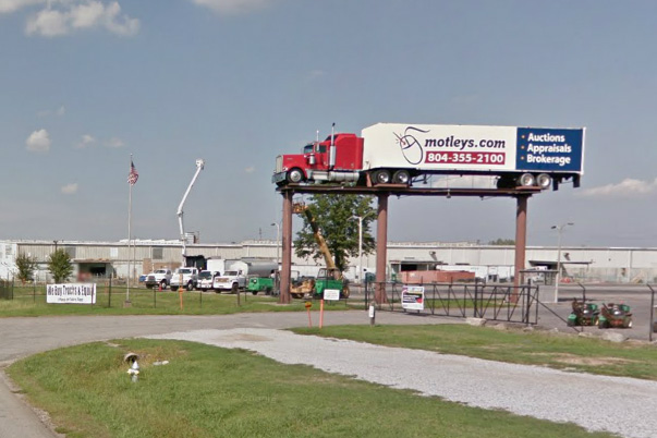 The Motley's truck, visible from I-95, will get its own upgrade. (Image via Google Maps)