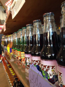 Some of Rocket Fizz's other wacky soda flavors include peanut butter and jelly, pumpkin pie and coffee. Courtesy of Evans.