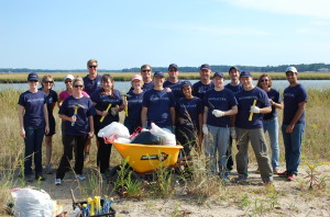 Signature staff volunteers at the Chesapeake Bay.