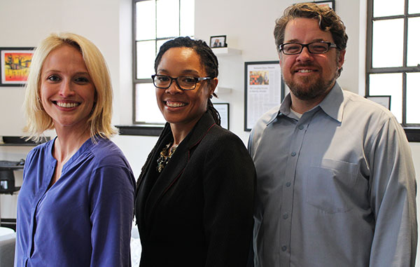 From left: TMI's Operations Manager Laura Bowser and co-founders Tiffany Jana and Matthew Freeman. Photos by Michael Thompson.