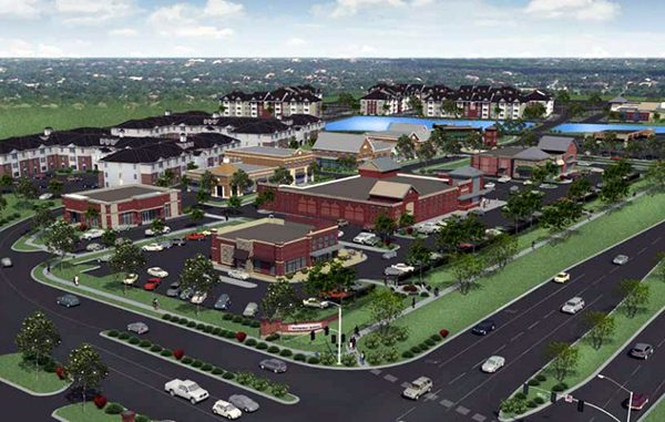 A rendering of the proposed 25-acre Winterfield Crossing development.