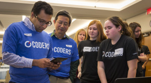Capital One taught middle school students about coding in a week-long program.