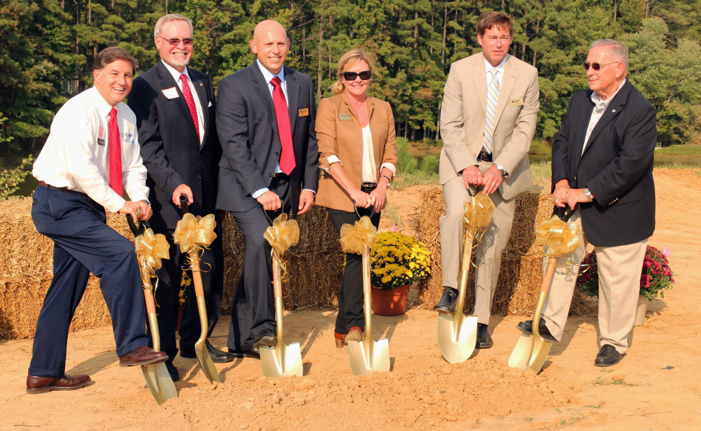 From left: Peter Larson, Chesterfield Chamber of Commerce; Will Davis, Director of Economic Development for Chesterfield County; Brian Schwindt, Vice President of Operations for Cornerstone Homes; Dotti Houlihan, Head of Sales and Marketing for Cornerstone Homes; Roger Glover, Owner of Cornerstone Homes; Ed Newman, Homeowner at Magnolia Lakes. Photos by Burl Rolett.
