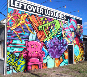 A Richmond muralist painted the side of the Leftover Luxuries building.